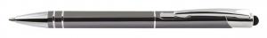 Penna alluminio grigio scuro cm.14x1x1h