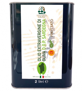 OLIO - EXTRAVERGINE - OLIVA - DOP - SARDEGNA - LATTINA - 2 LT