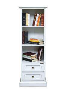 Libreria salvaspazio con 2 cassetti