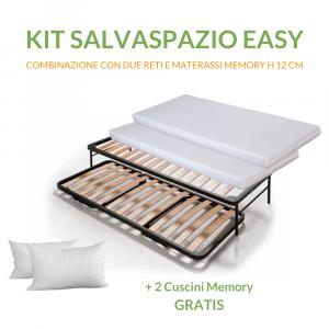 Kit Materassi in memory h 12 cm + Reti salvaspazio con Cuscini Memory in Omaggio | Salvaspazio EAsy