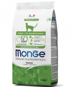 Monge Cat - Natural Superpremium - Adult - 1,5 kg