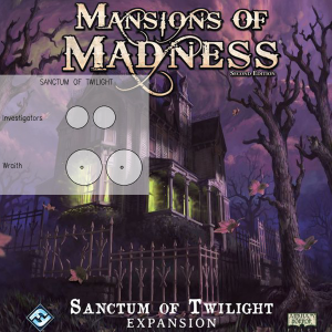 Mansions of Madness 2nd Ed. Sanctum of Twilight Clear Bases (x4)