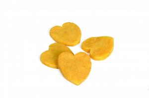 Bauveg Snack per cani Cuoricini con patata dolce