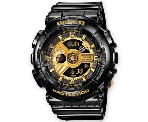 Casio BABY-G multifunzione, nero dettagli oro