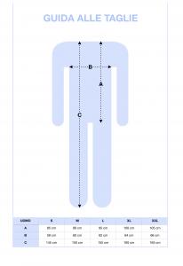Tuta clinica intera per anziani in cotone invernale INTIMO 2D