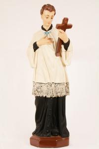 Statua S. Luigi in gesso decorato