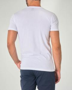 T-shirt bianca mezza manica con stampa ancora