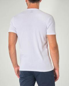 T-shirt bianca mezza manica con stampa pesce