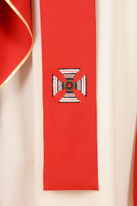 Casula C89T rossa Sallia di Pura Lana