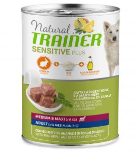 Trainer Natural Sensitive Plus - Medium/Maxi - 400g x 12 lattine