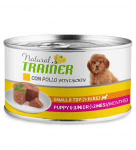 Trainer Natural - Small&Toy - Puppy&Junior - Pollo - 150g x 12 lattine
