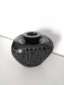 Vaso in vetro nero, con silicone. Inkpop, Memento
