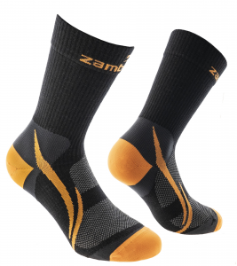 HIKING SOCKS ZAMBERLAN® TRAIL LITE PATH - Black/Orange