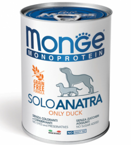 Monge Dog - Monoproteico - 400g x 6 lattine