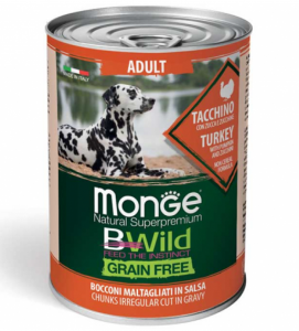 Monge - Bwild Grain Free - Adult - 400gr x 24 lattine