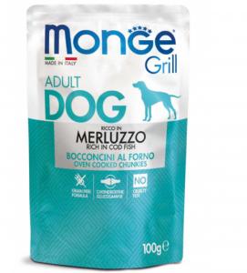 Monge Dog - Grill - Adult - Bocconcini - 100gr x 24 buste
