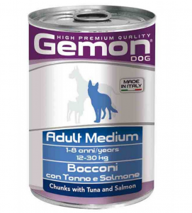Gemon Dog - Adult - Bocconi - 415gr x 24 lattine