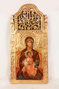 Icona Madonna con bambino cm 60x30