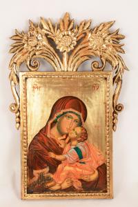 Icona Madonna con bambino cm 48x30