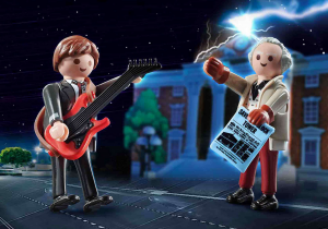 Playmobil 70459 Back to the Future: Marty Mcfly con il Dr. Emmett