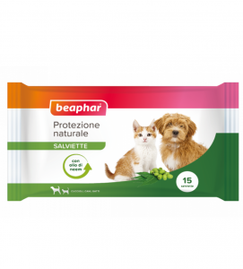 Beaphar - Protezione Naturale - Salviette Umidificate da 15 pezzi