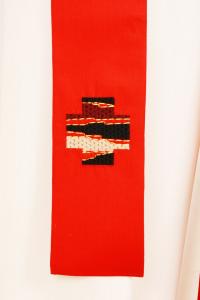 Casula C97 rossa Sallia di Pura Lana