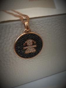 Collana in oro rosè con pendente Orafa La Gioia