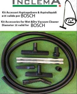 KIT tubo flessibile e Accessori Aspirapolvere & Aspiraliquidi ø35  (tubo diametro 32) valido per BOSCH