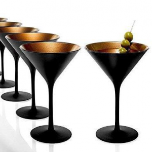 Set di 6 bicchieri da cocktail in bronzo nero 240 ml cm.11,6x11,6x17,2h diam.11,6