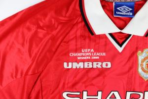 1999-00 MANCHESTER UNITED MAGLIA Champions League #7 BECKHAM XL (Top)