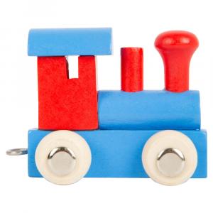 Locomotiva colorata per trenino lettere in legno