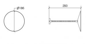 SERIE MEVEDO SPECCHIO INGRANDITORE (3X) A PARETE FLESSIBILE DIAM.186 P.290 MM CROMO