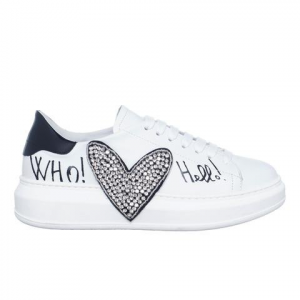 Sneakers Eglantine pelle bianca GIO+