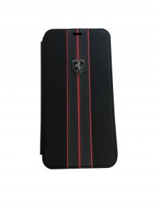 Ferrari Black Booktype Folio iPhone Xs Max