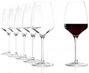 Set 6 calici in vetro universale da vino rosso e bianco Experience ml 450 cm.22,5h diam.8,4