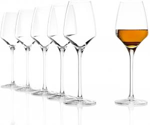 Set 6 calici in vetro da vino dolce Experience ml 190 cm.21,4h diam.8