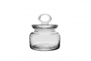 Baratolo in vetro con coperchio 63 cl cm.13,6h