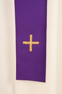 Casula CMB1K 768 Viola - Pura Lana - Stolone Seta Greggia