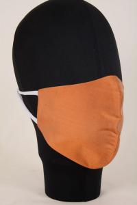Mascherina in Tessuto di Seta Arancio Lavabile