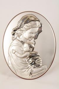 Quadro Madonna con Bambino cm 25x20