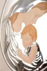 Quadro Madonna con Bambino cm 24x19