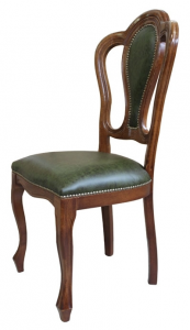 Classic chair with leather