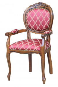 Head chair with carved design