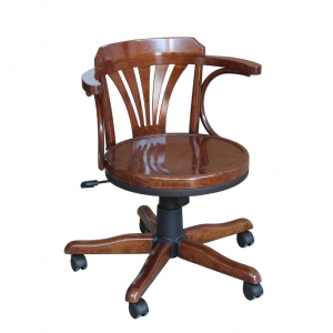 Beech wood swivel armchair