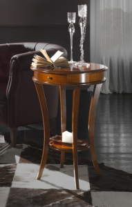 Rounded side table for living room