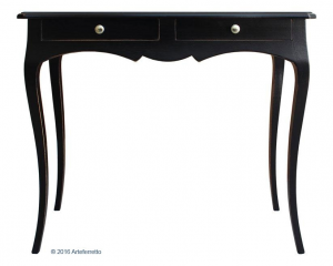 Shaped console table antique black