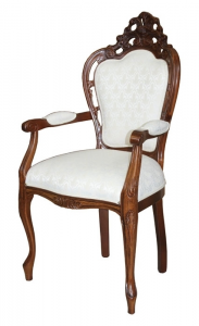 Pierced armchair for dining room