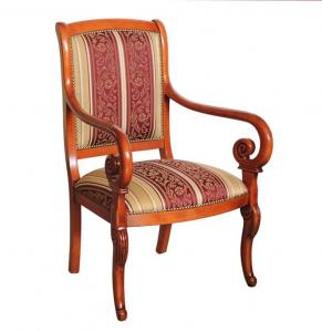 Living room armchair 'Melanie' in wood