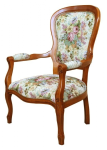 Louis Philippe upholstered armchair