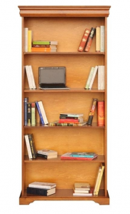 Wide open bookcase in wood